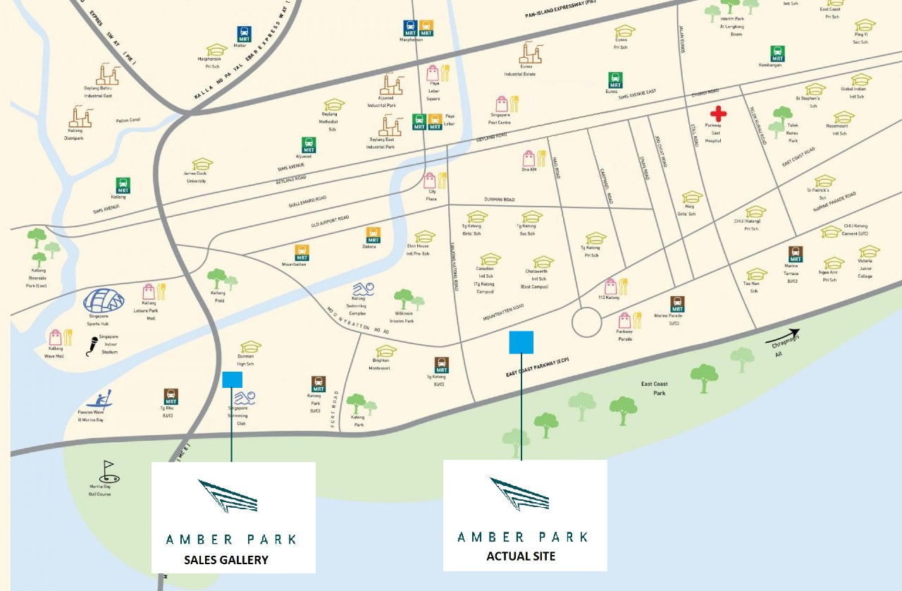 amber park location map