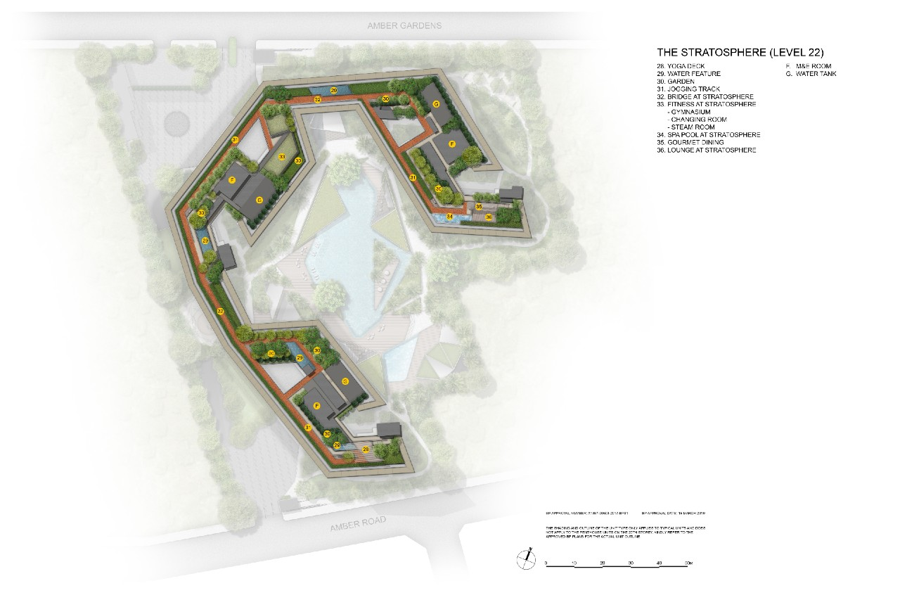 Amber Park Roof Terrace Plan w facilities